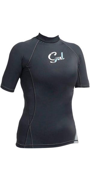 Gul Ladies Swami Short Sleeve Rash Vest Black RG0330-A9