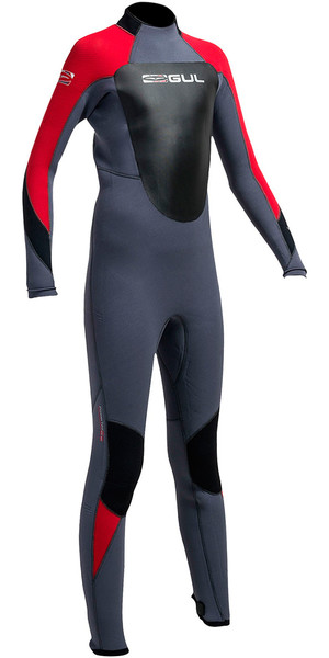 2018 Gul Response 5/3mm Junior Wetsuit Graphite / Red RE1218-B1