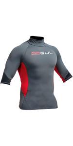 Gul Xola Short Sleeve Rash Vest Ash / Red RG0338-A9