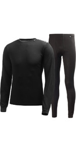 2020 Helly Hansen Comfort Dry 2-Pack Base Layer BLACK 48676
