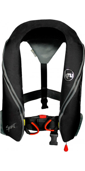 Kru Sport 185N Manual Lifejacket with Harness - Black LIF7230