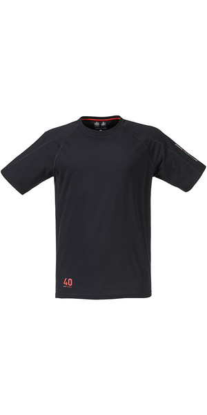 Musto Evolution Logo Short Sleeve Tee in BLACK SE1361