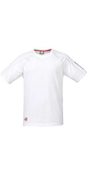 Musto Evolution Logo Short Sleeve Tee in WHITE SE1361