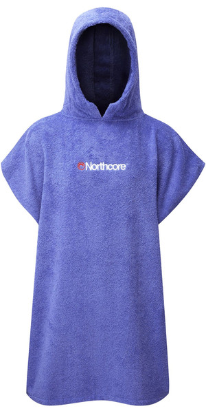 2018 Northcore KIDS Beach Basha Changing Robe / Poncho BLUE NOCO24D