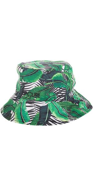 Rip Curl Island Palms Revo Reversible Bucket Hat WHITE / GREEN GHACJ1
