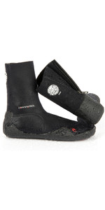 Rip Curl Junior Dawn Patrol 3mm Zipped Round Toe Boots BLACK WBO5AJ
