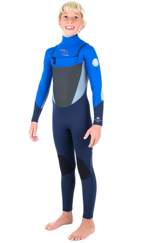 Rip Curl Junior Dawn Patrol 5/3mm GBS Chest Zip Wetsuit BLUE WSM6GB