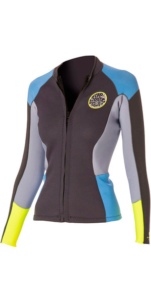 Rip Curl Ladies 1.5mm Dawn Patrol Long Sleeve Neo Jacket Blue / Grey WVE4BW