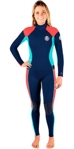 Rip Curl Womens Dawn Patrol 3/2mm GBS Back Zip Wetsuit NAVY WSM6GW