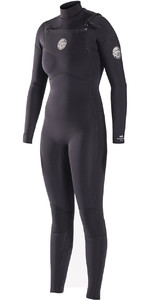 Rip Curl Womens Dawn Patrol 4/3mm GBS Chest Zip Wetsuit BLACK WSM6JW