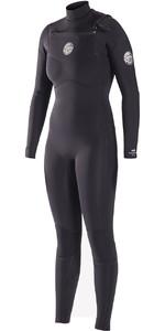 Rip Curl Womens Dawn Patrol 5/3mm GBS Chest Zip Wetsuit BLACK WSM6IW
