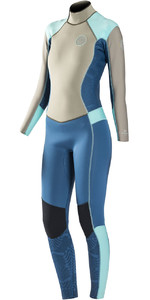 Rip Curl Womens Dawn Patrol 5/3mm GBS Back Zip Wetsuit BLUE WSM6EW