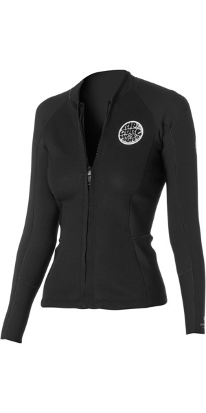 Rip Curl Ladies Dawn Patrol 1.5mm Long Sleeve Neo Jacket Black WVE4BW