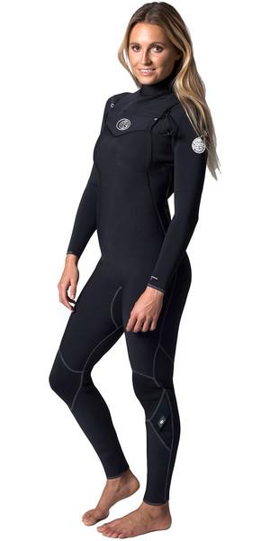 Rip Curl Womens Flashbomb 4/3mm Chest Zip Wetsuit BLACK WSM6FG