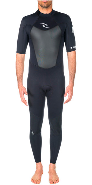 Rip Curl Omega 2mm S / S Back Zip Flatlock Wetsuit Black WSM4NM