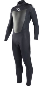 Rip Curl Omega 3/2mm GBS Back Zip Wetsuit BLACK WSM6LM
