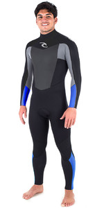 2018 Rip Curl Omega 4/3mm GBS Back Zip Wetsuit BLUE WSM6JM