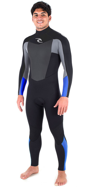 2018 Rip Curl Omega 3/2mm GBS Back Zip Wetsuit BLUE WSM6LM