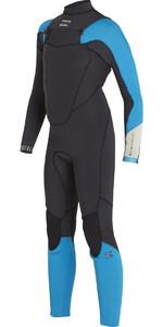 2018 Billabong Boys Absolute Comp 4/3mm Chest Zip Wetsuit BLACK SANDS F44B13