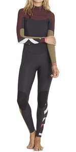 Billabong Ladies Salty Dayz 5/4mm Chest Zip Wetsuit MULBERRY F45G15