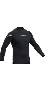 2019 Gul Code Zero 1mm Long Sleeve Thermo Top BLACK AC0057-B2