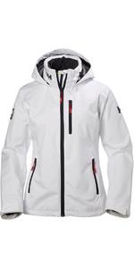 2020 Helly Hansen Womens Crew Hooded Jacket White 33899