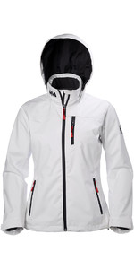 2018 Helly Hansen Ladies Hooded Crew Mid Layer Jacket WHITE 33891