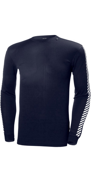 2019 Helly Hansen Lifa Stripe Crew Neck Base Layer LS Top GRAPHITE 48800
