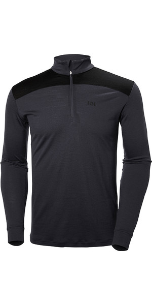 Helly Hansen Merino Mid Half Zip Top GRAPHITE BLUE 48356