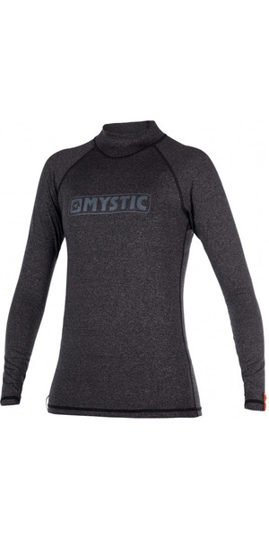 2018 Mystic Star Womens long Sleeve Rash Vest BLACK 170345