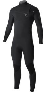 2019 Rip Curl Dawn Patrol 4/3mm Chest Zip Wetsuit BLACK WSM7CM