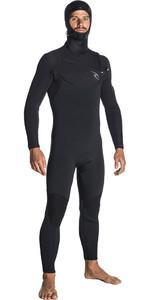 2019 Rip Curl Dawn Patrol 5/4mm Hooded Chest Zip Wetsuit BLACK WSM7SM