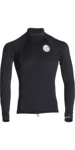 2020 Rip Curl Flashbomb 0.5mm Neoprene / Lycra Long Sleeve Top BLACK WVE7NM