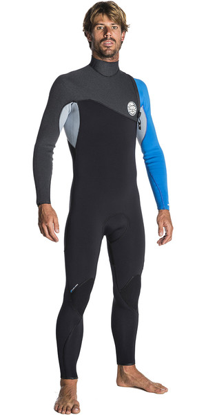 2018 Rip Curl Flashbomb 3/2mm Zip Free Wetsuit BLUE WSM7RF