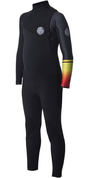 2018 Rip Curl Junior Flashbomb 4/3mm Zip Free Wetsuit ORANGE WSM7MS