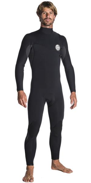 2018 Rip Curl E-Bomb Pro 5/3mm Zip Free Wetsuit BLACK WSM7PE