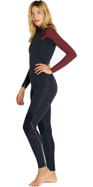 2018 Billabong Ladies Furnace Carbon Comp 5/4mm C / Z Wetsuit MULBERRY F45G10