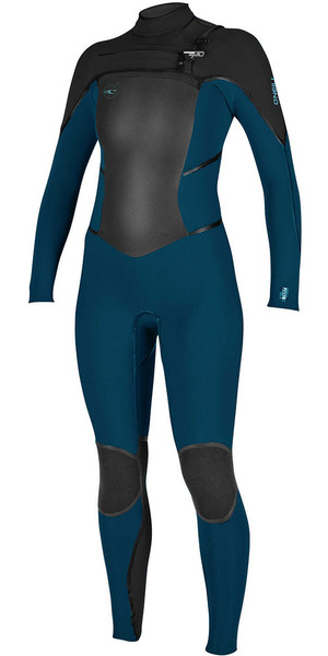 2018 O'Neill Ladies Psycho Tech 5/4mm Chest Zip Wetsuit SLATE / BLACK 4989