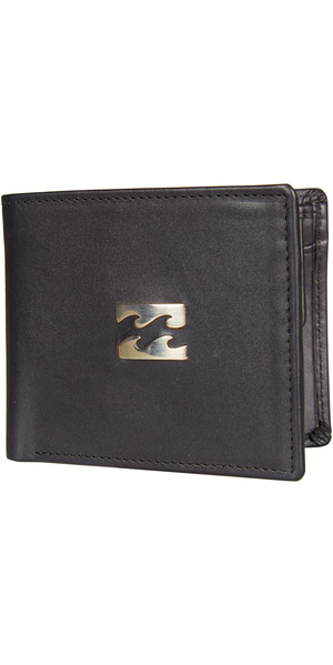 Billabong Icon Snap Leather Wallet BLACK C5LW03