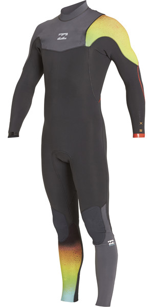 2018 Billabong Junior Furnace Carbon Comp 4/3mm Zip Free Wetsuit GRAPHITE F44B10