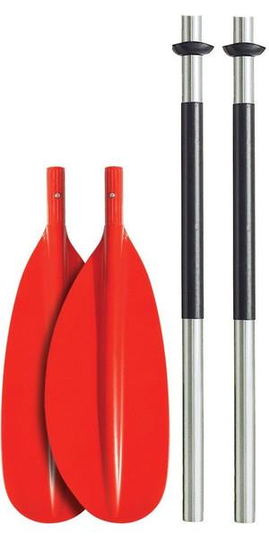 Bravo KWB 230cm 4 PIECE ALU PADDLE - CURVED BLADE - RED