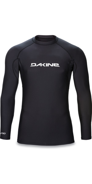 2018 Dakine Heavy Duty Snug Fit Long Sleeve Surf Shirt BLACK 10001017