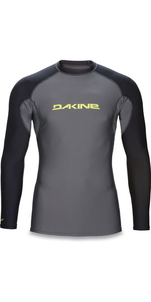 2018 Dakine Heavy Duty Snug Fit Long Sleeve Surf Shirt GUNMETAL 10001017