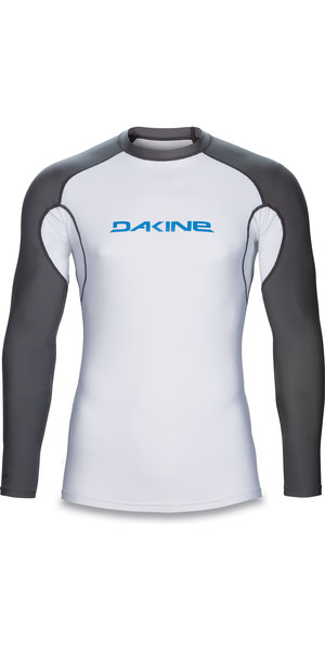 Dakine Heavy Duty Snug Fit Long Sleeve Surf Shirt WHITE 10001017