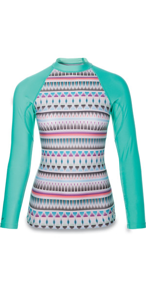 Dakine Ladies Makena Snug Fit Long Sleeve Rash Vest ZANZIBAR 10001049