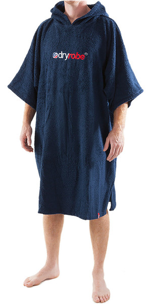 2018 Dryrobe Short Sleeve Towel Change Robe / Poncho - MEDIUM in Navy