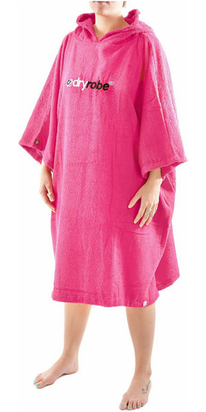 2019 Dryrobe Short Sleeve Towel Change Robe / Poncho - LARGE in Pink