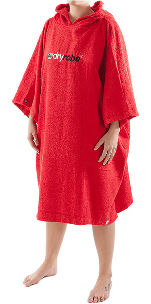 2019 Dryrobe Short Sleeve Towel Change Robe / Poncho - Large in Red