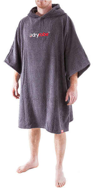 2018 Dryrobe Short Sleeve Towel Change Robe / Poncho - Medium in Slate Grey