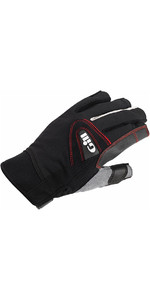 2019 Gill Championship Short Finger Sailing Gloves Black 7242